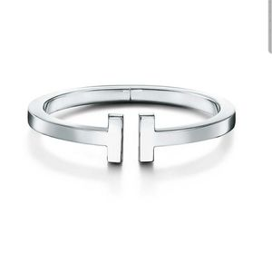 Tiffany T Sterling Silver Square bracelet